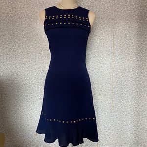 ❤️Michael Kors True Navy Blue Gold Mini Dress XS❤️